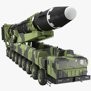 hwasong-15 transporter erector vehicle 3D