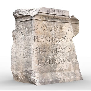 3D perge ancient stone rock