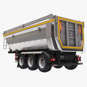 semi dump trailer model