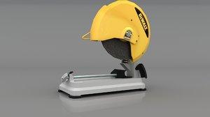 3D model dewalt chop saw d28715