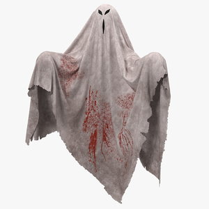 evil ghost bedsheet model