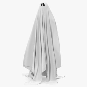 3D ghost white sheet