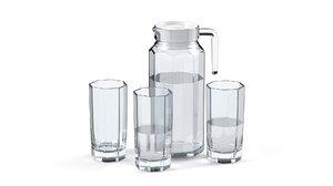 3D jug glass