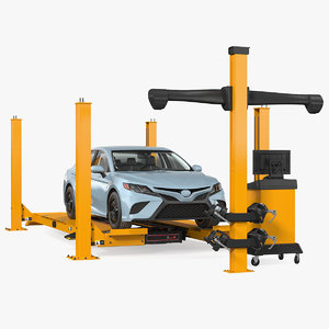 wheel alignment equipment generic car 3D model