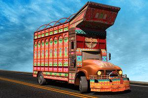 truck pakistan 3D model