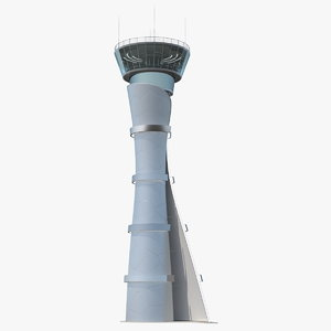 3D airport air traffic control tower