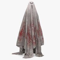 Bloody Evil Ghost Bedsheet
