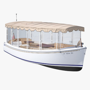 electric boat duffy 22 3D model