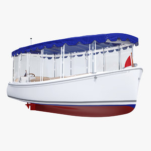 electric boat canvas enclosures 3D model