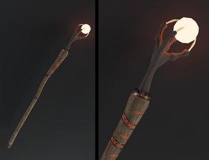 3D dragon staff