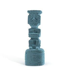 3D hawaiian god koro