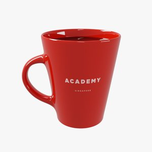 3D model coffee cup generic design
