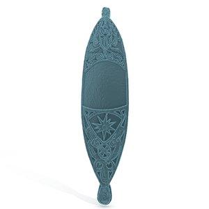 3D tiki surfboard plaque model