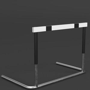 3D track hurdle model
