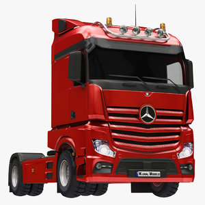 mercedes truck red 3D