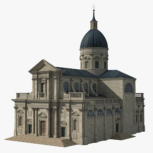 cathedral european europe building 3D model
