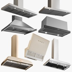3D realistic range hood collections