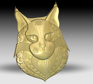 3D abstract maine coon
