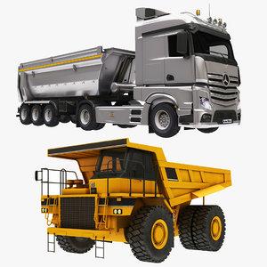 3D model dumper truck minning