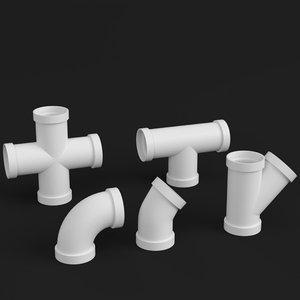 3D pvc pipe joints