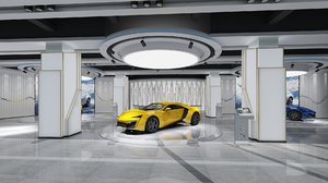 3D car showroom