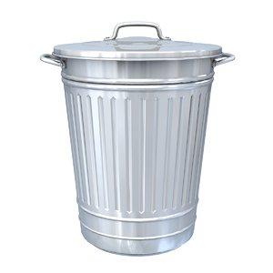 trash trashcan 3D model