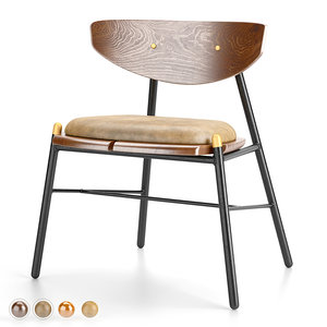 kink dining chair 3D