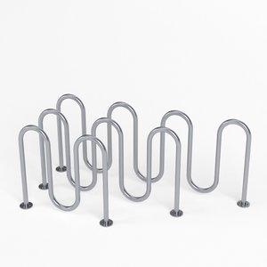 3D wave bicycle racks