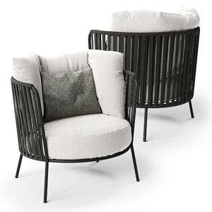 vermobil desiree armchair 3D