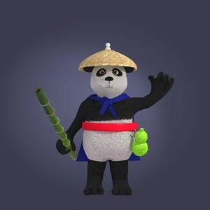 3D model cartoon panda