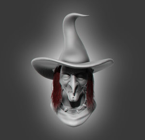3D witch bust