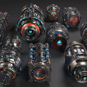 sci fi mega elements 3D model