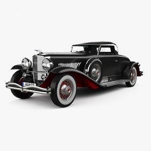 3D model j duesenberg 1931