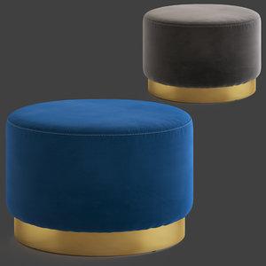 cult furniture viserra stool 3D model