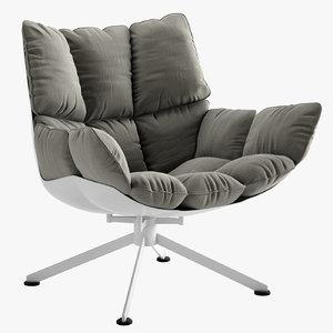 3D husk arm chair model