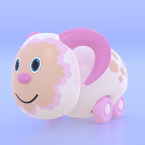 3D model cute toy sheep