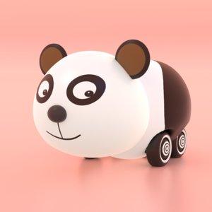 cute toy panda 3D model