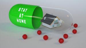 capsule corona 3D model