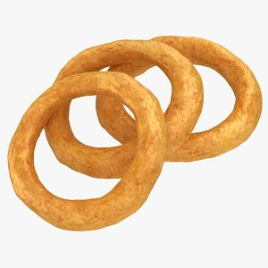 3D realistic onion ring