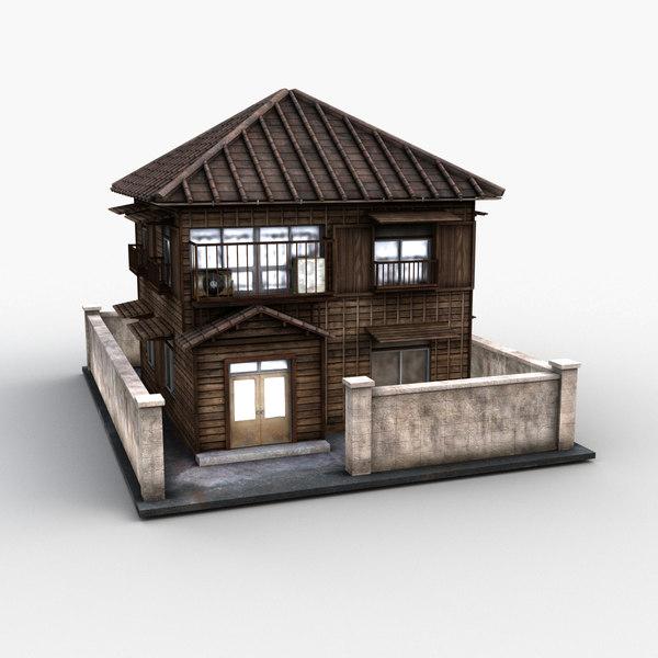 3d Japanese Style House 0026 Turbosquid 1525313