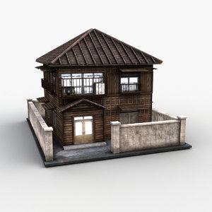3D japanese style house 0026