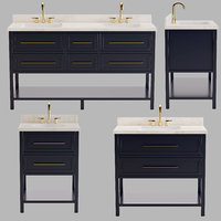 ROBERTSON CONSOLE DOUBLE SINK SINK UNDER THE COUNTERTOP