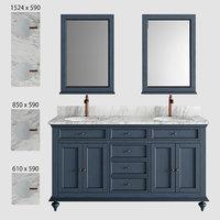 Keller Double Vanity for Undermount Sinks - Vintage Navy Blue