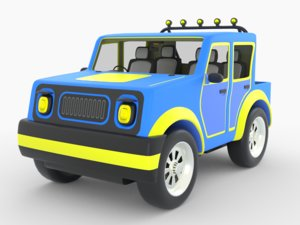 3D toy mini truck model