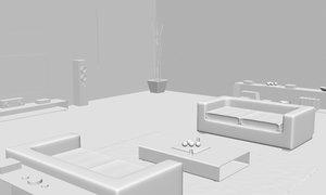 living room interior design model