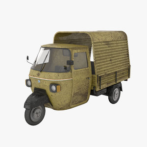 iconic ape piaggio india 3D model