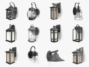 3D outdoor wall lanterns vol 2