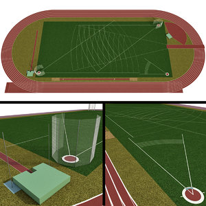 3D model universal sports field olympic stadium