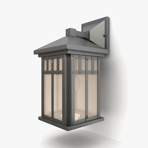 outdoor wall lantern 24 3D model