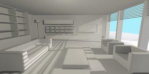 living room interior design 3D model
